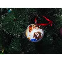 Ёлочный шар с фото прозрачный