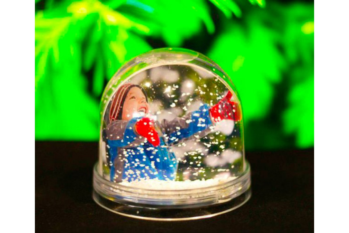 Снежный шар с фотографией на заказ